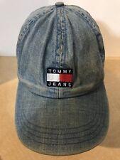 d082ff47 Tommy Jeans 90's Sailing Capsule Flag Logo Denim Baseball Cap Hat