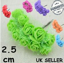 144 Pcs Mini Artificial Flowers Foam Rose Heads Wedding Party Decor Bouquet AT