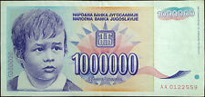 Yugoslavia banknote - inflation - 1.000.000 (million) dinara - year 1993 - a boy