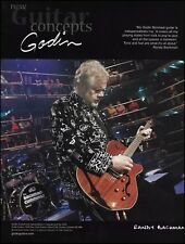 Randy Bachman (BTO) Godin Montreal guitar 8 x 11 advertisement 2006 ad print