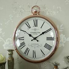Grande Cobre Estilo Vintage colgante de Pared Mando Llave Reloj Shabby Chic