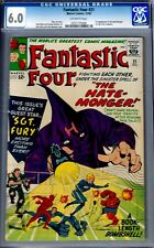FANTASTIC FOUR #21-CGC 6.0- FINE 1963 EARLY NICK FURY CROSSOVER/HATEMONGER