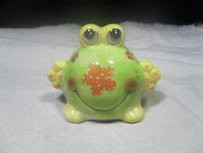New ~ Ceramic Green Big Belly Frog Bank
