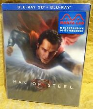 MAN OF STEEL Superman Blu-Ray 3D+2D MANTA LAB Exclusive STEELBOOK LENTICULAR