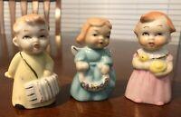 Antique Choir Porcelain Cupie style Figurines  Guardian Angel Gold Japan Lot