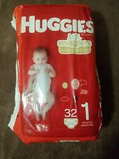 Huggies Little Snugglers Baby Diapers, Size 1 32 Count up to 14lbs