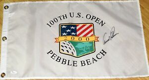 ARNOLD PALMER Signed 2000 US OPEN Flag -  JSA LOA  - Pebble Beach