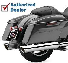 """Cobra 909 Chrome Bagger 4"""" Slip On Mufflers Exhaust Pipes Harley Touring Dresser"""