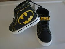 NEW Boy Toddler 13 High Top Sneakers Batman Black DC Comics Chuck Taylor