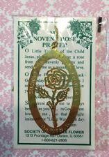 Vtg St Therese Rose Novena Prayer Society Of Little Flower Auto Medal-Estate