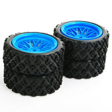 12mm Hex Set Rally Racing Tire Wheel Rims 4X For RC 1/10 Off Road Car PP0487+BBB