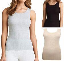 Ladies M&S Thermal Lace Trim Built up shoulder BRUSHED INSIDE Vest Top/Camisole