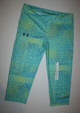NUEVO Under Armour heat Gear YOGA Capris Mallas Largas Leggings Niña XL 16 años