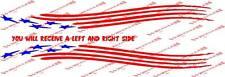 Sweet American Flag trailer decal set 6x54 inches long Mastercraft Ranger
