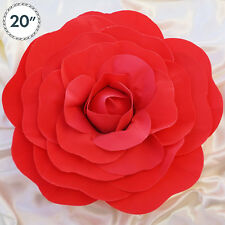 """2 pcs 20"""" Red Artificial Large Roses Flowers Wall Backdrop Party Wedding"""