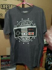 "Nintendo (NES) ""Classically Trained"" Size: Adult Lg T-Shirt + Super Mario Toy"