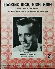 Bryan Johnson Looking High, High, High.  Eurovision Song Festival 1960