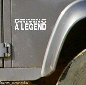 Driving a legend, Decal, Vinyl, 4x4, Sticker