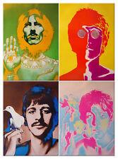4 posters Richard Avedon 1st edition Beatles VARA original vintage NO REPRINT!
