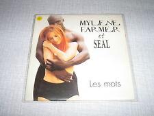 MYLENE FARMER SEAL CDS FRANCE LES MOTS