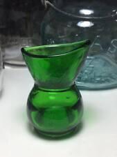 Antique emerald green glass eyewash