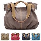 Womens Vintage Canvas Tote Shoulder Bag Crossbody Handbag Satchel Messenger Bags