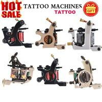 Professional Tattoo Machine Gun 10 Wrap Coil Liner Shader Equipment Free Ship
