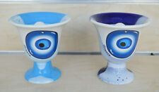 Pythagoras cup of justice evil eye protector light blue and blue set