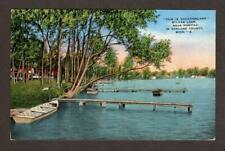 SYLVAN LAKE NEAR PONTIAC IN OAKLAND COUNTY, MICHIGAN POSTCARD