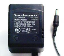 AC-DC ADAPTER 9VDC-500mA 2.1mm DC PLUG - #ZA30950 1 PIECE SINO AMERICA