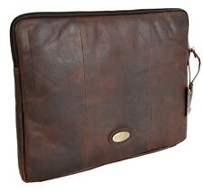 Rowallan Of Scotland Brown Real Leather Zip Around A4 Document Case 33-1266
