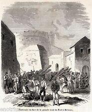 BATTAGLIA DI MILAZZO: Barricata al Castello.Spedizione dei Mille.Garibaldi.1860