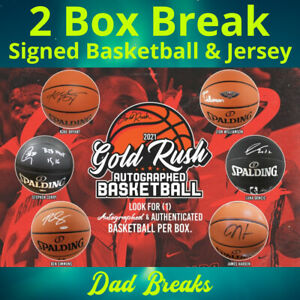 CHARLOTTE HORNETS autographed Gold Rush basketball + signed jersey: 2 BOX BREAK