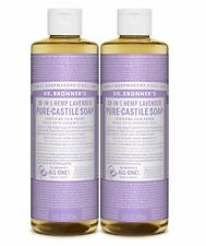 Dr Bronner`s Organic Lavender Castile Liquid Soap 473ml - Vegan (Pack of 2)