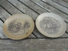 2 Vintage Poole Pottery Stoneware Plates  Mouse & Foal