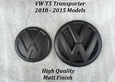 VW Transporter T5 Matt Black Front & Rear badges 2010-2015 Models - UK Seller -