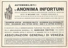 W2605 Assicurazioni Generali di Venezia - Pubblicità del 1938 - Old advertising