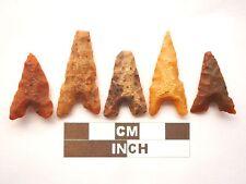 5 x puntas de flecha neolítica, Eiffel/puntos de Marruecos, Genuino - 4000BC (Z034)