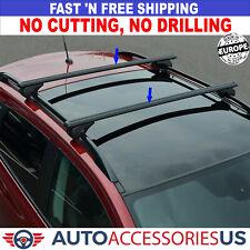 For TOYOTA ECHO 2000-2005 Roof Racks Cross Bars Carrier Rails Roof Bar Black