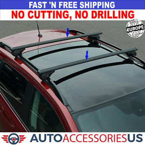 For MAZDA 5 2005-2010 Roof Racks Cross Bars Carrier Rails Roof Bar Black