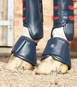 Premier Equine Carbon Wrap Over Reach Boots - Navy Premier Equine