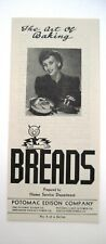 "Fabulous 1940's ""Reddy Kilowatt"" Brochure ""The Art of Baking Breads"" *"