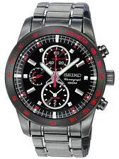 SEIKO SNAD91 SNAD91P1 Mens Sport Chronograph Alarm Black Steel 100m Watch