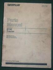 Cat Caterpillar 613C Scraper Tractor Ps Parts Book Manual S/N 92X1-Up