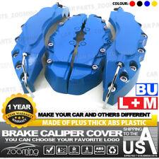 4x Blue Brake Caliper Covers Universal Car Style Disc Front Rear Kits L+M LW03