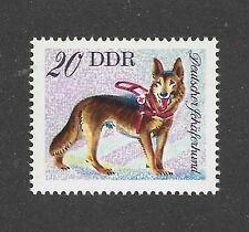 Art Body Postage Stamp GERMAN SHEPHERD DOG ALSATIAN East Germany DDR 1976 MNH