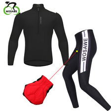 Men Cycling Jersey Pants Suit Long Sleeve Top Downhill Mountain MTB Padded Pants