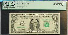 2009 $1 FRN *STAR* Note, New York, Super Low 32,000 run, PCGS Graded XF45PPQ