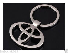 Toyota Yaris Corolla Avensis Prius 3D Car Logo Key Ring Chrome Metal chain