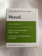 MURAD Resurgence Retinol Youth Renewal Night cream 50ml New